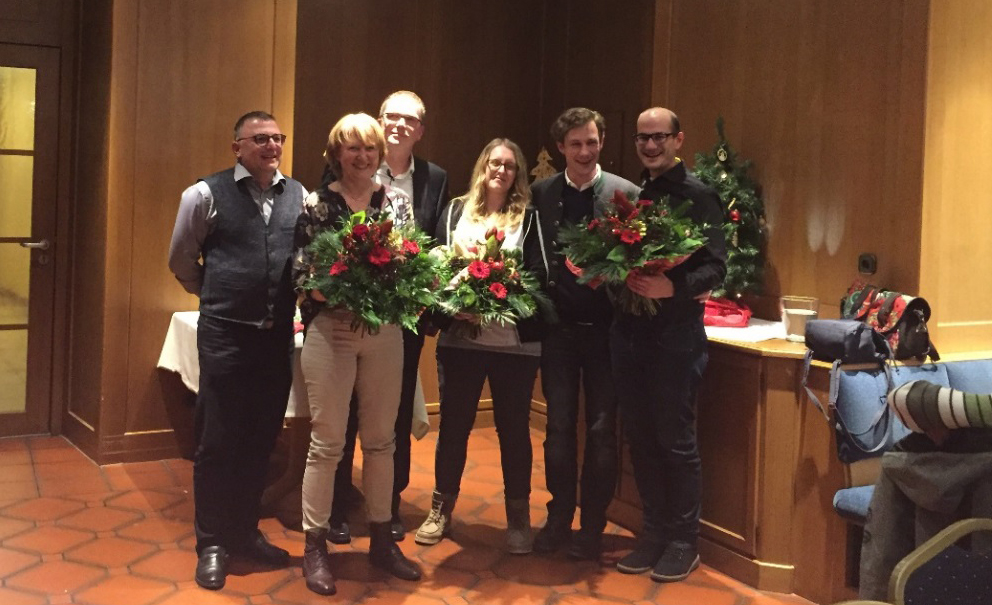 v.l.n.r. StB Torsten Erhardt, Christine Künzel, StB Marc Hölgert, Amanda Markhof, RA Thomas von Borck, StB Maximilian Hars