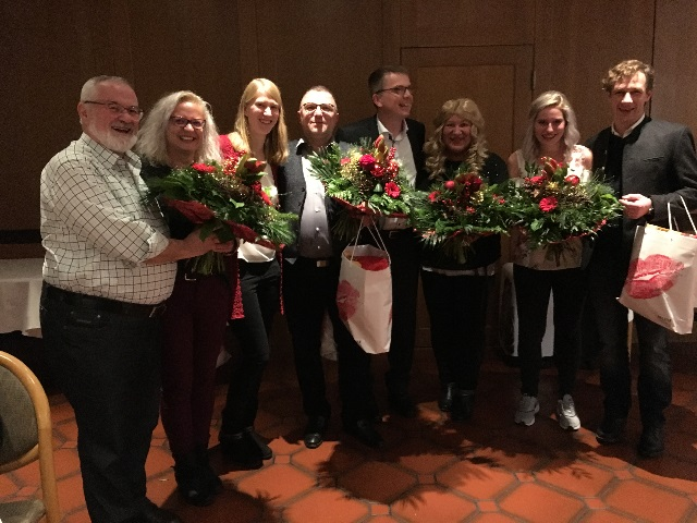 v.l.n.r. StB Klaus Hars, Manuela Praller, Lisa Schreyer,  StB Torsten Erhardt, StB Marc Hölgert, Martina Hermann, Pfreundtner Stefanie, RA Thomas von Borck